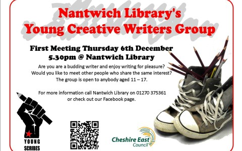 "Nantwich Library to launch new ""Young Scribes"" group"