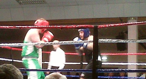 Nantwich Cricket Club supporters enjoy ABA boxing final at Civic Hall