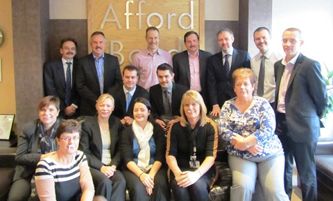 Staff at Nantwich firm Afford Bond raise £5,000 for Movember