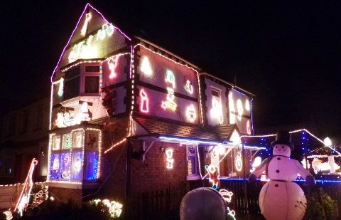 Crewe and Nantwich residents bring Christmas lights street joy