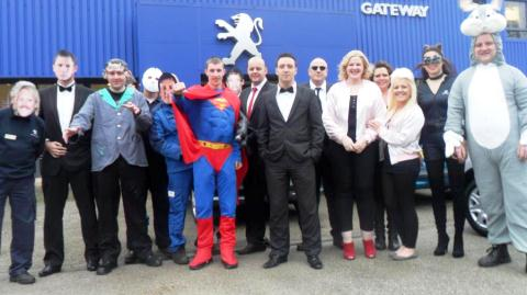 Staff at South Cheshire car dealership raise £2,000 for Children In Need