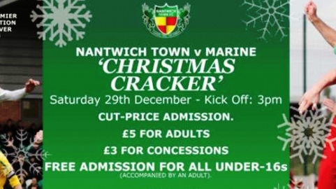 Nantwich Town reduce prices for festive clash against Marine
