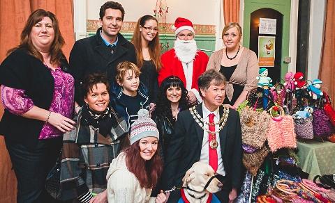 Crowds enjoy Regents Park Christmas Market in Nantwich