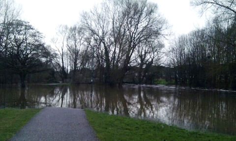 River Weaver floods, December 2012 (pic by Darren McDean)