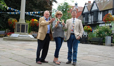 Roger Mills (left), director of Nantwich Food and Drink Festival, is to receive MBE in New Year Honours List