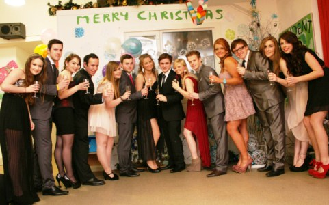 Students Association members at Reaseheath College Christmas Ball