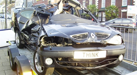 Think car, Cheshire Police drink drive campaign