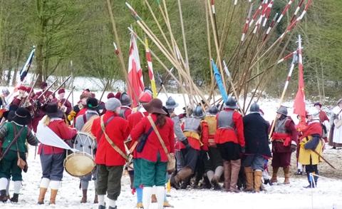 Battle of Nantwich re-enactment at Mill Island