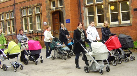 Nantwich mums push buggies 100 miles for One in Eleven Appeal