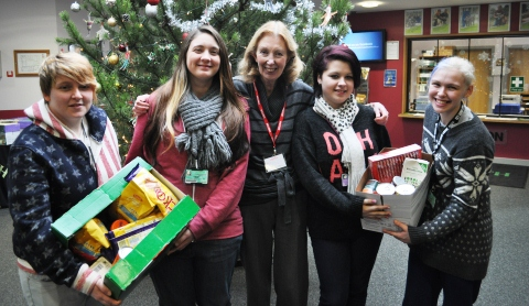 Reaseheath College students donate vital supplies to Nantwich Foodbank