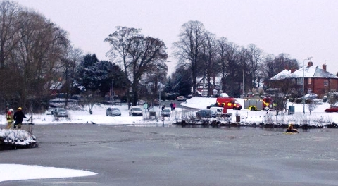 Nantwich Lake swan incident 1
