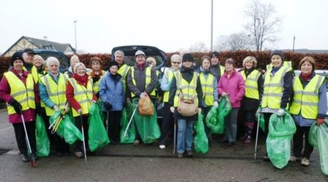 Nantwich Litter Group, January 2013 pick