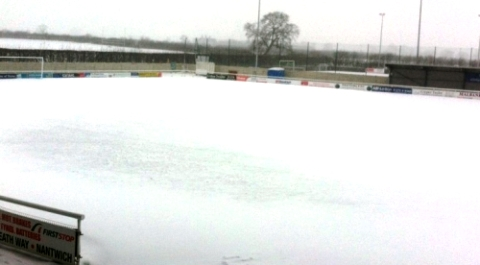 Snow hits Nantwich Town and Crewe Alex home games