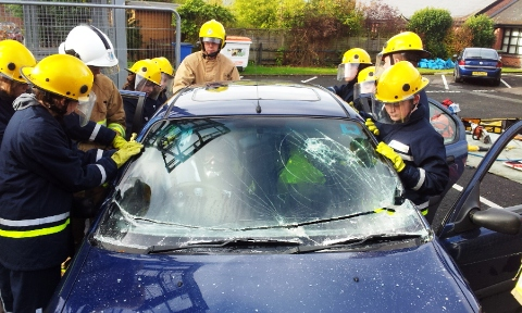 Nantwich teenagers complete fire and rescue RESPECT course