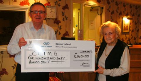 Richmond Village Nantwich residents raise £160 for CLIMB