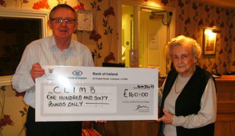 Richmond Village Nantwich residents raise £160 for CLIMB