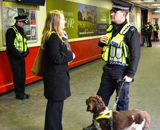 British Transport Police, drug op Crewe station