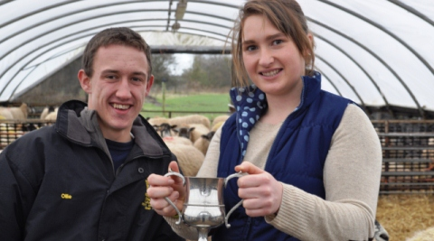 Young Reaseheath College student scoops sheep farmer award