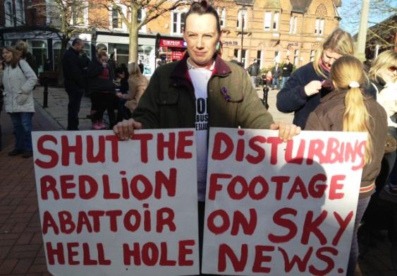 Red Lion Abattoir protest 1