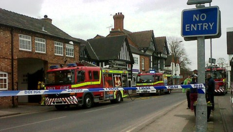 UPDATE: Nantwich Red Cow pub blaze – town centre road reopens