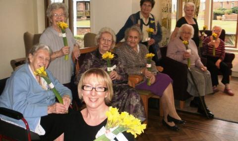 Sainsbury's donates flowers to Richmond Village Nantwich