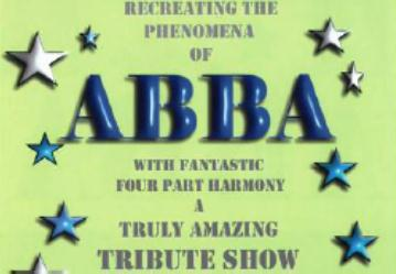ABBA tribute band line up rugby club Vagrants gig in Nantwich