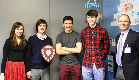 Brine Leas students in Nantwich scoop Keele Shield Maths award