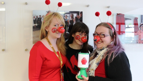 Nantwich workers and students raise money for Comic Relief