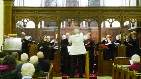 Musical Director Phil Houghton conducts the Wistaston Singers (Sat 16-3-13) (2)