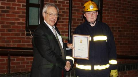 PCC John Dwyer rewards Nantwich cadets for poppy appeal effort