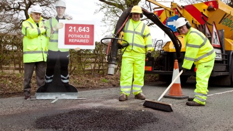 Compensation - Pothole roads repair team in Cheshire East