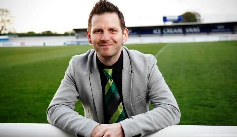Danny Johnson, Nantwich Town manager (pic by Simon J Newbury)