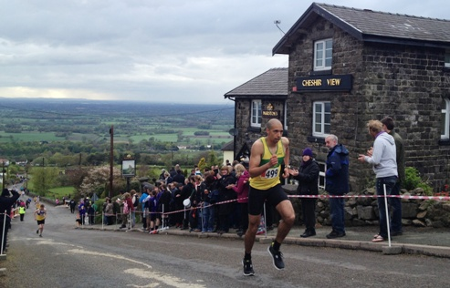 "Crewe and Nantwich runners tackle Mow Cop ""killer mile"""
