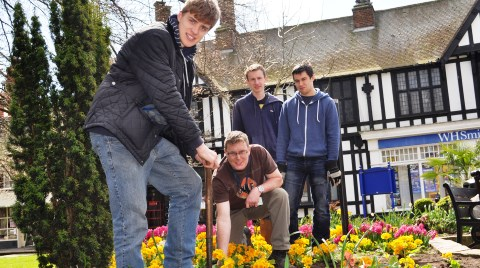 Reaseheath College students get Nantwich showpiece garden ready