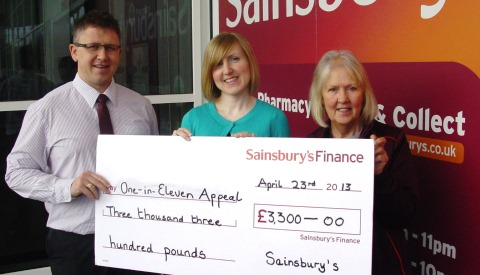 Nantwich Sainsbury's shoppers raise £3,300 for One in Eleven Appeal