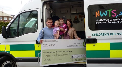 Swine flu girl's family hosts Nantwich fundraiser for life-saving service