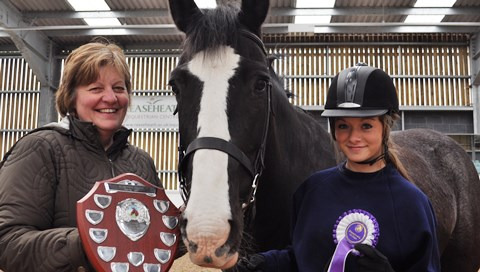 Teenager scoops Reaseheath College horse award in Nantwich