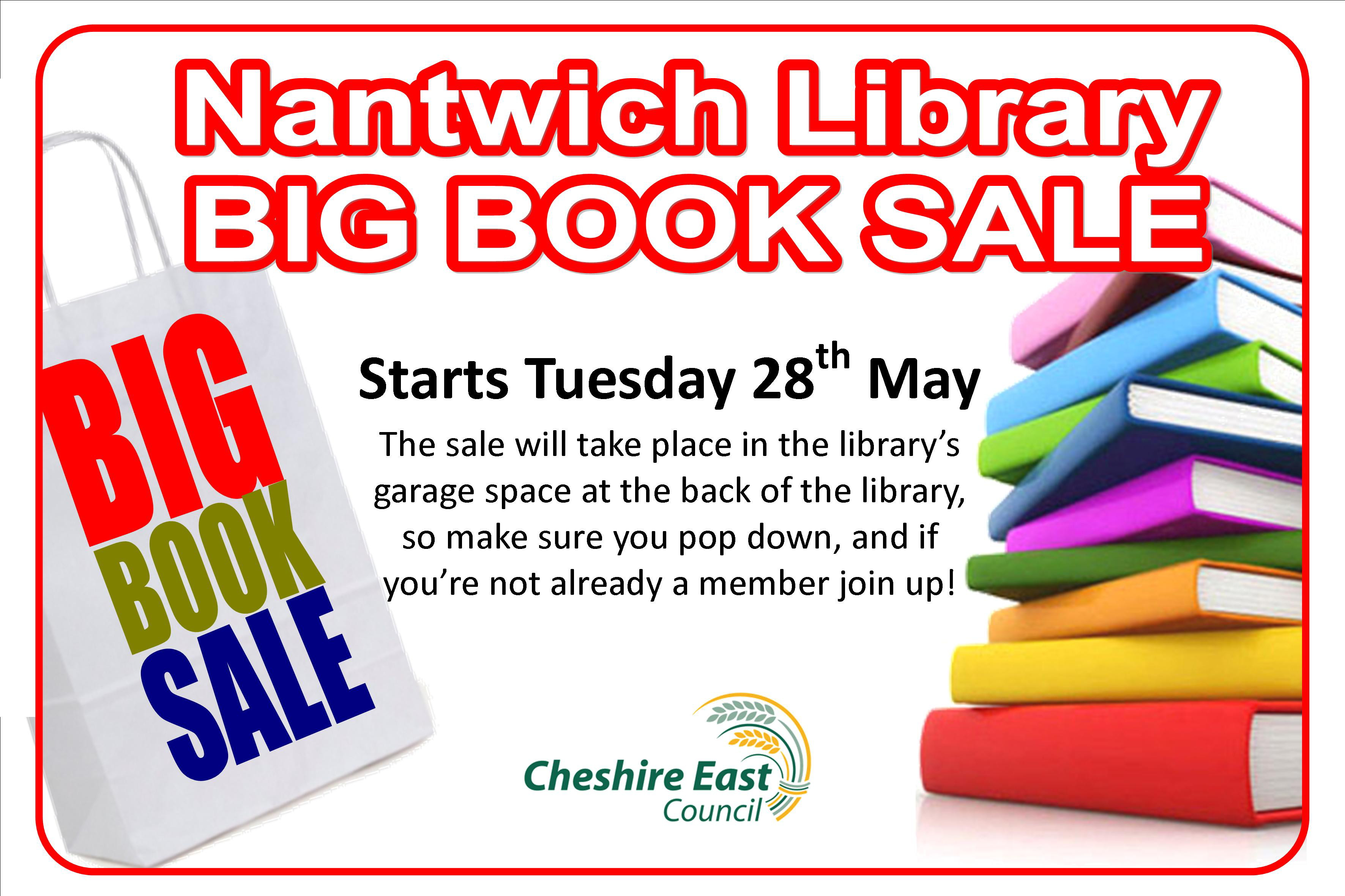 Nantwich Library launches two-week book sale