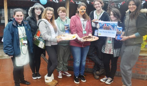 Nantwich students raise £630 at Reaseheath tea party