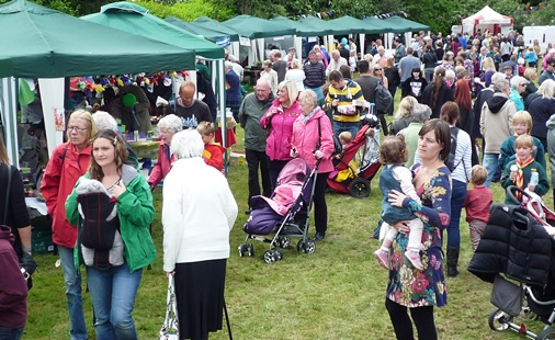 Attendees at the Wistaston Village Fete