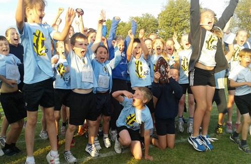 Pear Tree School celebrate Town Sports 2013