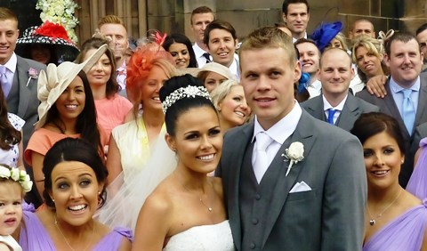 Stoke City star Ryan Shawcross marries at Nantwich St Mary's Church