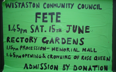 Plans for Wistaston Village Fete in place