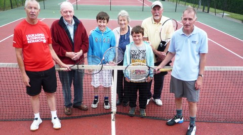 Wistaston tennis players stage 12-hour Tennis-athon for charity