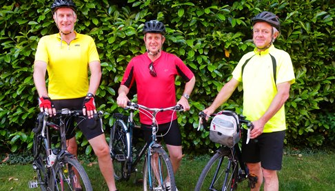 Three Nantwich friends ride London to Paris for St Luke's Hospice