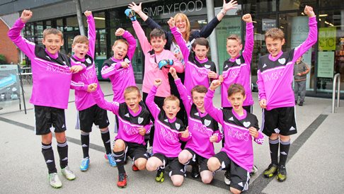 Nantwich Pumas junior team wins Marks & Spencer kit competition