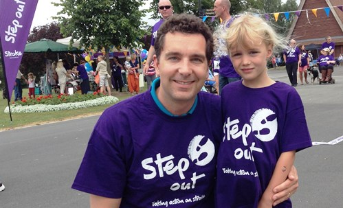"Nantwich MP Edward Timpson joins ""Step Out For Stroke"" walk"
