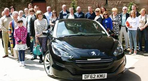 Castle mystery tour for South Cheshire Peugeot RCZ owners