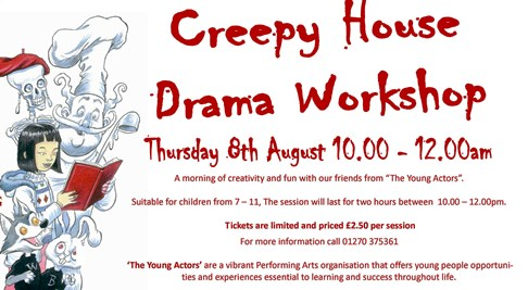 """Nantwich Young Actors to run kids """"creepy house"""" drama at library"""