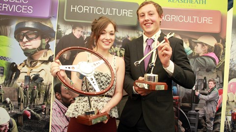 vehicle Sian Manfredi and Ricky Stevens, best students L3 Dip light vehicle maintenance and repair